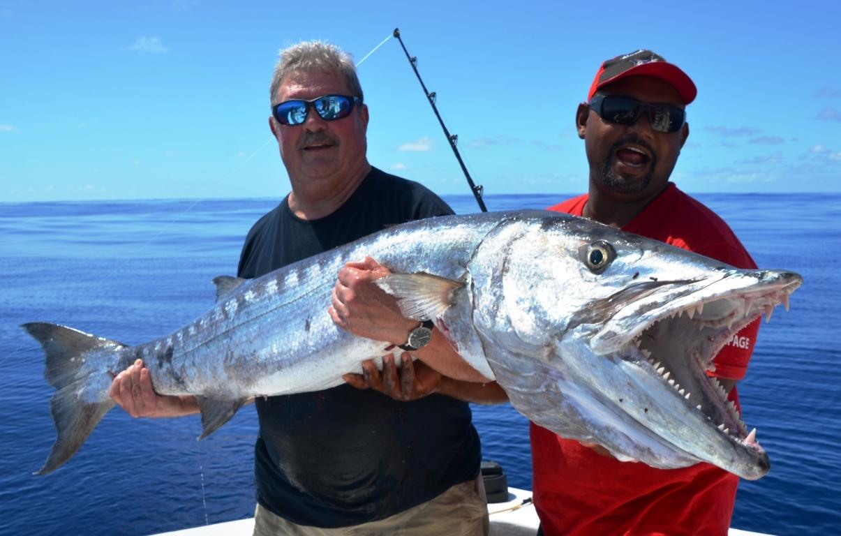 27 kg barracuda en peche a la traine par Paulus van den Berk - 14 Déc 2015- Rod Fishing Club - Ile Rodrigues - Maurice - Océan Indien