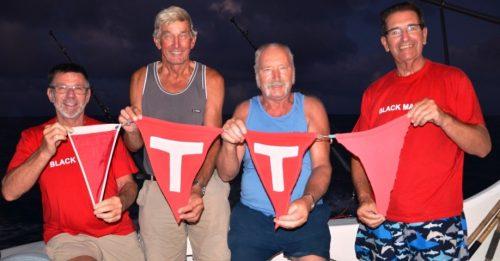 4 rostres relâchés - Rod Fishing Club - Ile Rodrigues - Maurice - Océan Indien