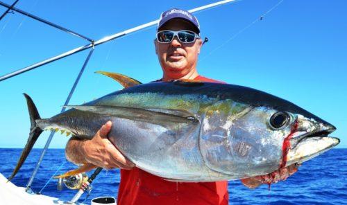 Alberto et son thon jaune de 27kg - Rod Fishing Club - Ile Rodrigues - Maurice - Océan Indien