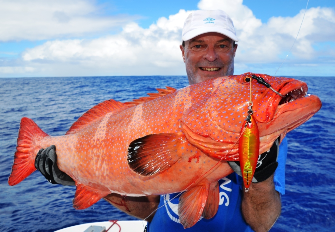 Babonne ou Plectropomus puntactus - Rod Fishing Club - Ile Rodrigues - Maurice - Océan Indien