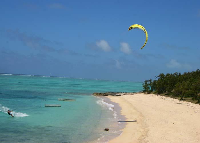 Beach for Kite surf- Rod Fishing Club - Rodrigues Island - Mauritius - Indian Ocean