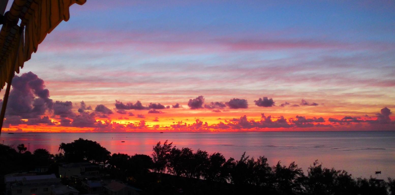 Coucher de soleil à Jeantac - Rod Fishing Club - Ile Rodrigues - Maurice - Océan Indien