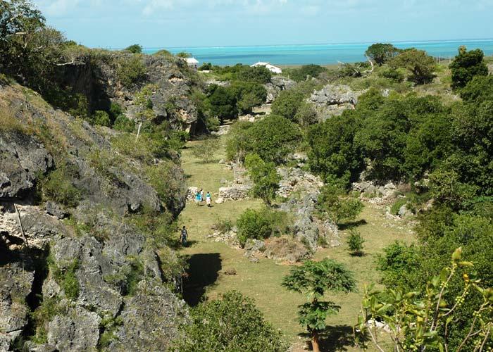 Francois Leguat caves - Rod Fishing Club - Rodrigues Island - Mauritius - Indian Ocean