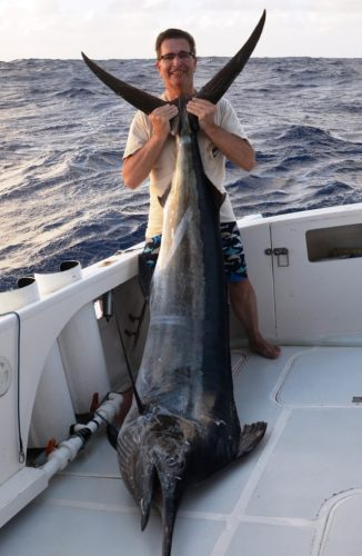 Frans et son marlin noir Rod Fishing Club - Ile Rodrigues - Maurice - Océan Indien