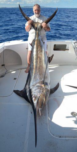 Gérard et son marlin noir de 150kg - Rod Fishing Club - Ile Rodrigues - Maurice - Océan Indien