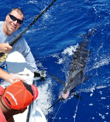 Juan Manuel relâche son voilier de 45kg - Rod Fishing Club - Ile Rodrigues - Maurice - Océan Indien