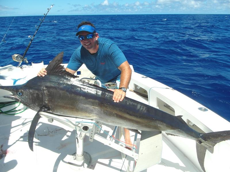 Mark et son marlin noir- Ile Rodrigues - Maurice - Océan Indien