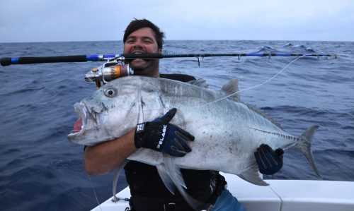 Moshe et sa carangue ignobilis - Rod Fishing Club - Ile Rodrigues - Maurice - Océan Indien