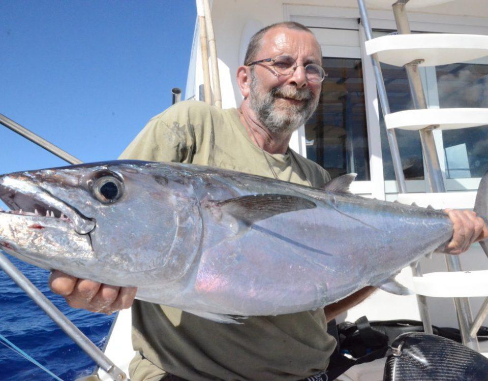 Pascal et son thon dents de chien - Rod Fishing Club - Ile Rodrigues - Maurice - Océan Indien