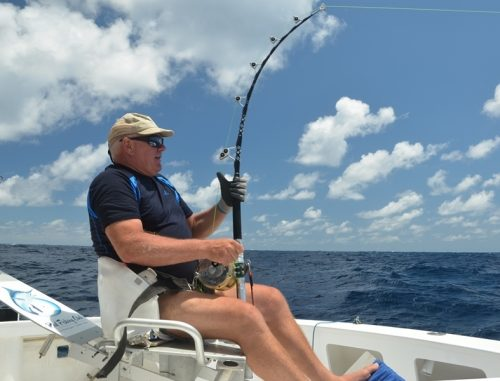 Patrick en action - Rod Fishing Club - Ile Rodrigues - Maurice - Océan Indien