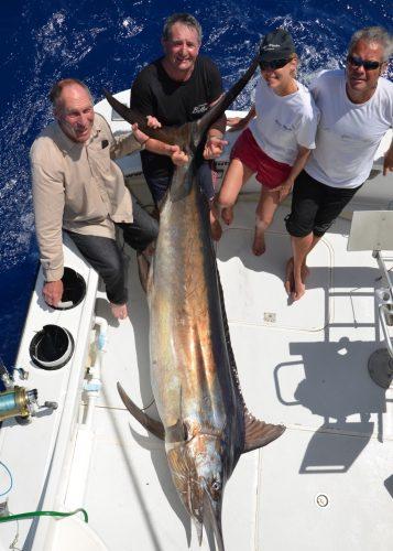 Philippe et son marlin noir - Rod Fishing Club - Ile Rodrigues - Maurice - Océan Indien