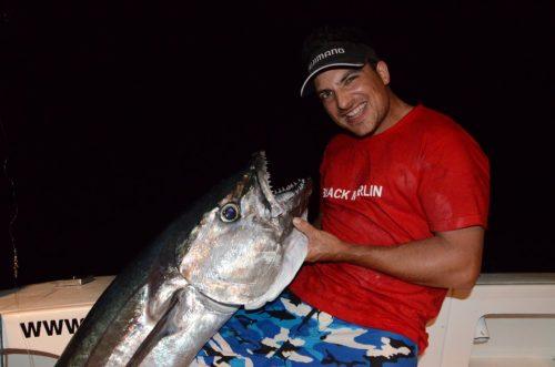 Pierre et son thon dents de chien de 43kg en jigging - Rod Fishing Club - Ile Rodrigues - Maurice - Océan Indien