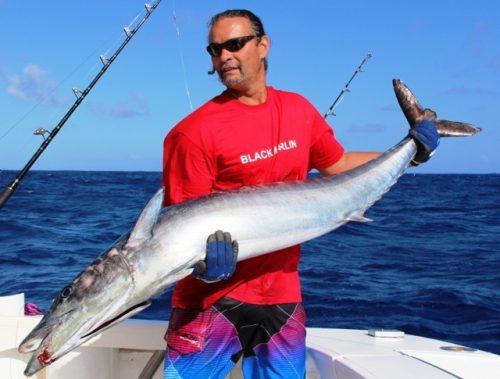 Tof et son wahoo de 30 kg - Rod Fishing Club - Ile Rodrigues - Maurice - Océan Indien