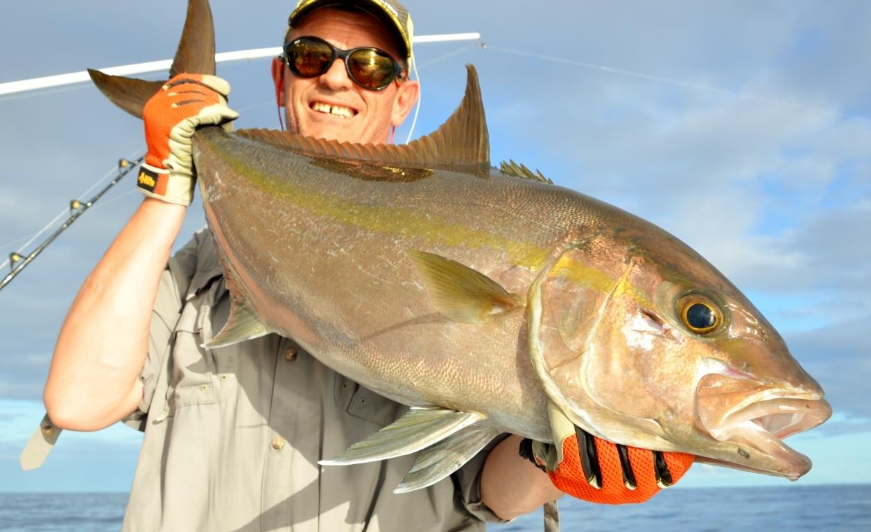 Une belle sériole prise par Philippe en jigging - Rod Fishing Club - Ile Rodrigues - Maurice - Océan Indien