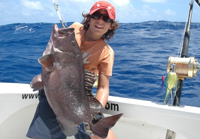 White blotched grouper - Rod Fishing Club - Rodrigues Island - Mauritius - Indian Ocean