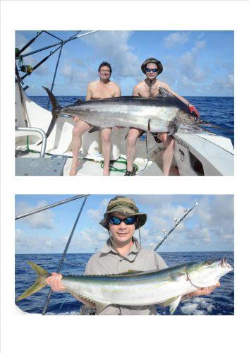marlin et coureur arc en ciel - Rod Fishing Club - Ile Rodrigues - Maurice - Océan Indien