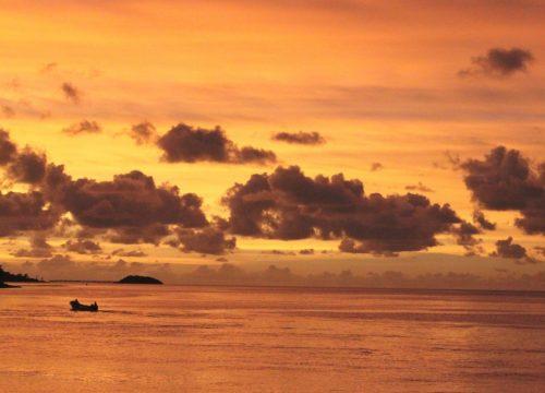 coucher de soleil dans l'Ouest - Rod Fishing Club - Ile Rodrigues - Maurice - Océan Indien