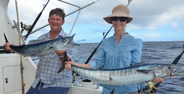 doublé de wahoos - Rod Fishing Club - Ile Rodrigues - Maurice - Océan Indien