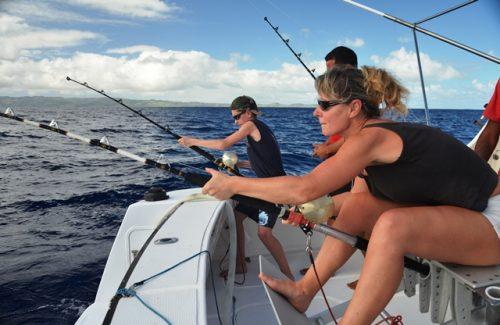 en combat - Rod Fishing Club - Ile Rodrigues - Maurice - Océan Indien