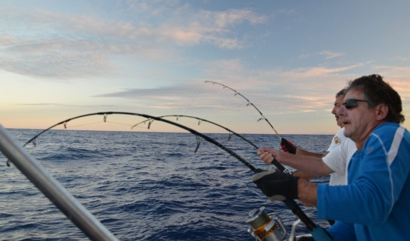 jigging session - Rod Fishing Club - Ile Rodrigues - Maurice - Océan Indien.