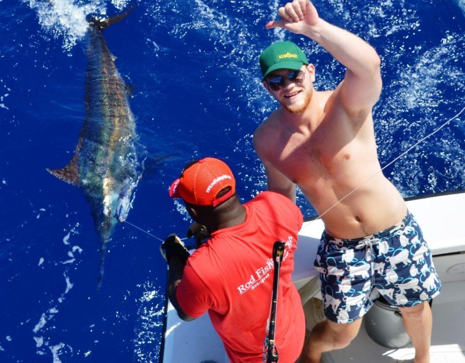 marlin bleu relâché - Rod Fishing Club - Ile Rodrigues - Maurice - Océan Indien