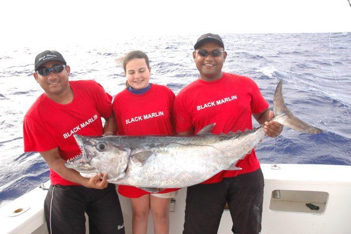 ecord du monde junior féminin pour Cécile doggy de 28.5kg - Rod Fishing Club - Ile Rodrigues - Maurice - Océan Indien