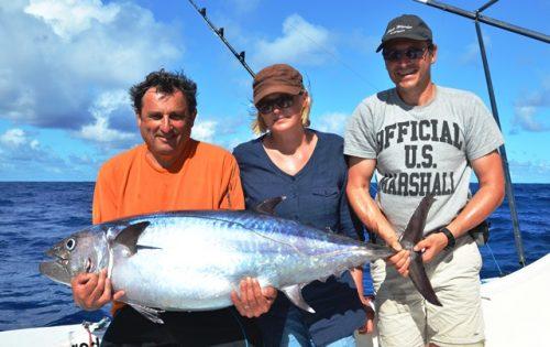 thon à dents de chien de 28.5kg - Rod Fishing Club - Ile Rodrigues - Maurice - Océan Indien