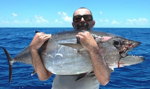 thon à dents de chien pour Pascal - Rod Fishing Club - Ile Rodrigues - Maurice - Océan Indien