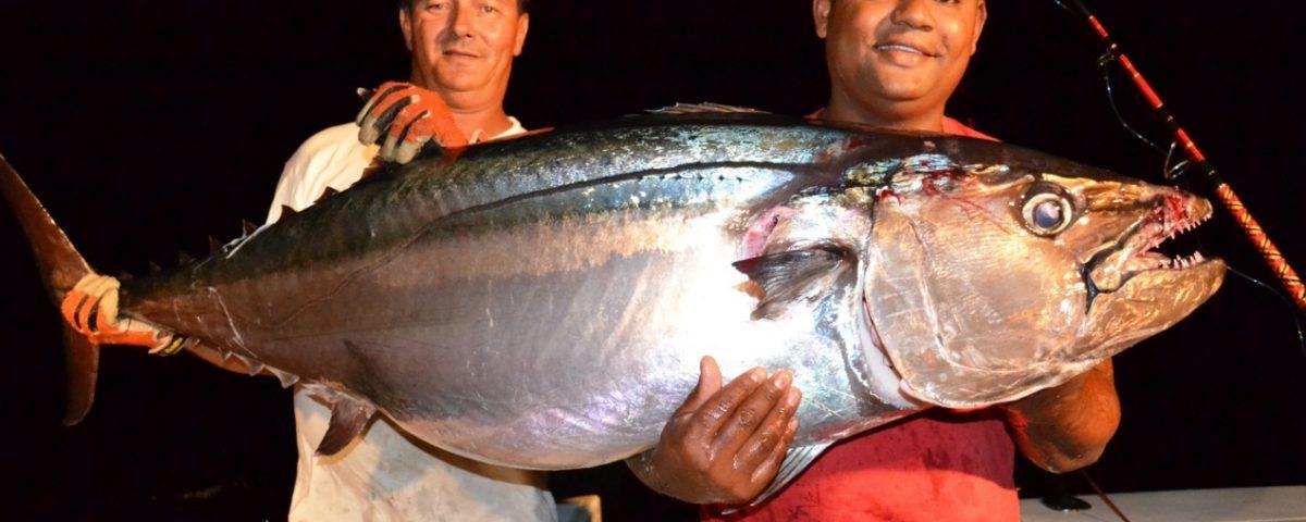 thon à dents de chien de 52kg par Olivier - Rod Fishing Club - Ile Rodrigues - Maurice - Océan Indien