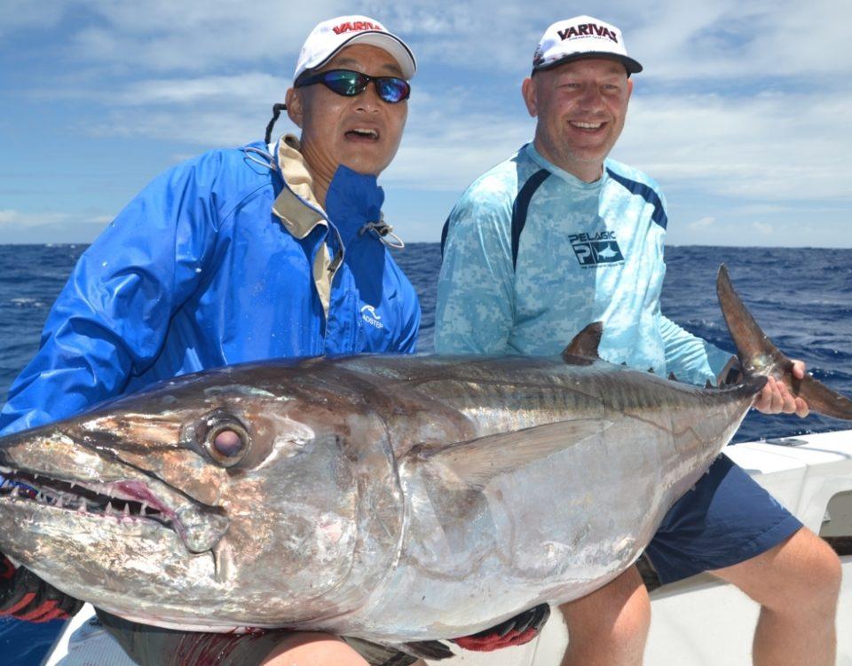 thon dents de chien de 60.5kg par Igor - Rod Fishing Club - Ile Rodrigues - Maurice - Océan Indien
