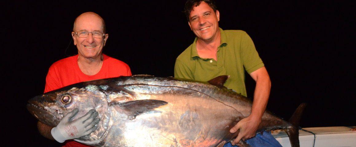 thon à dents de chien de 62kg - Rod Fishing Club - Ile Rodrigues - Maurice - Océan Indien