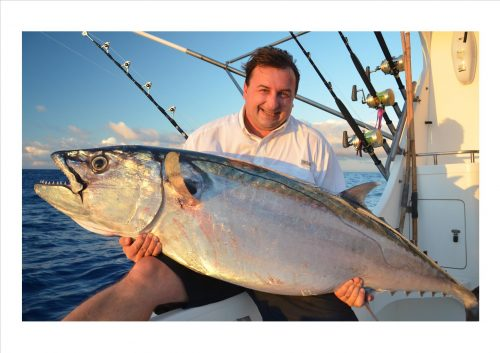 thon dents de chien en jigging - Rod Fishing Club - Ile Rodrigues - Maurice - Océan Indien