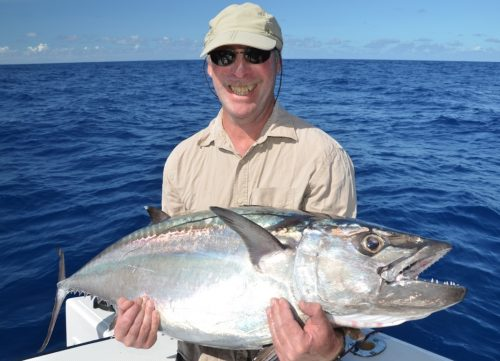 thon à dents de chien pris au jig - Rod Fishing Club - Ile Rodrigues - Maurice - Océan Indien