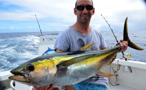 thon jaune 16kg - Rod Fishing Club - Ile Rodrigues - Maurice - Océan Indien