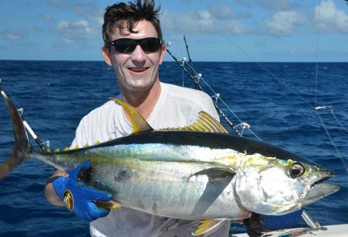 thon jaune de 16kg - Rod Fishing Club - Ile Rodrigues - Maurice - Océan Indien