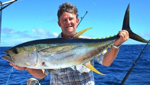 thon jaune par Terry - Rod Fishing Club - Ile Rodrigues - Maurice - Océan Indien