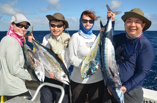 une belle variété en traîne - Rod Fishing Club - Ile Rodrigues - Maurice - Océan Indien