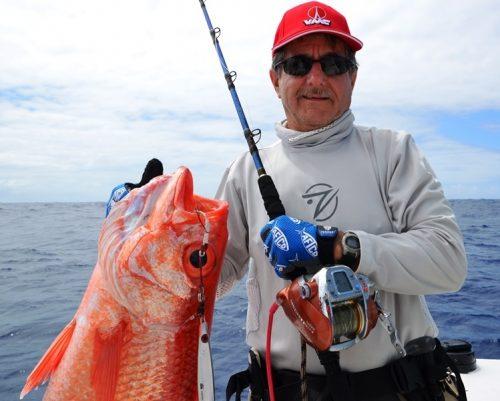 vivaneau par 200m de fond - Rod Fishing Club - Ile Rodrigues - Maurice - Océan Indien