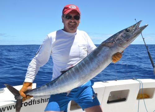 wahoo de 18kg pour Gianni - Rod Fishing Club - Ile Rodrigues - Maurice - Océan Indien