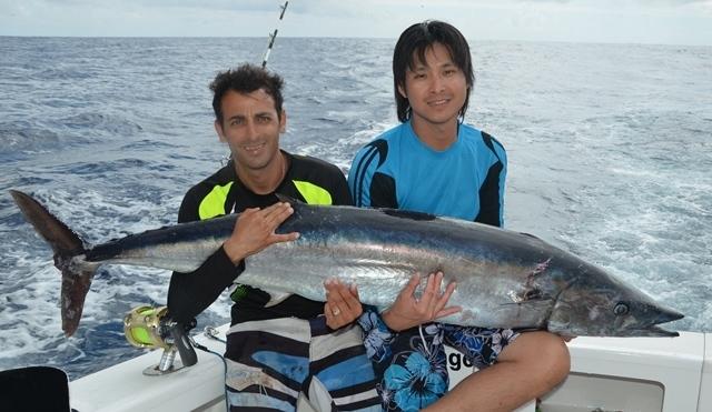 wahoo de 38.5kg - Rod Fishing Club - Ile Rodrigues - Maurice - Océan Indien