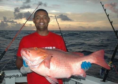 16kg red snapper by Steeve - Rod Fishing Club - Rodrigues Island - Mauritius - Indian Ocean