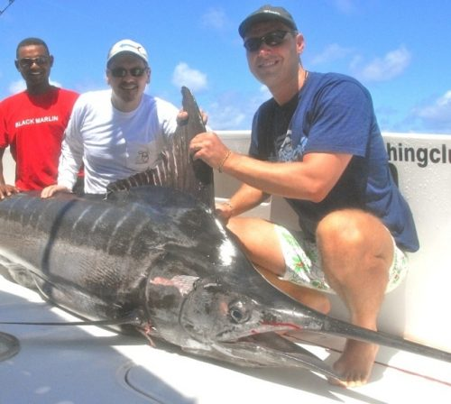 175.5kg marlin caught on trolling - Rod Fishing Club - Rodrigues Island - Mauritius - Indian Ocean