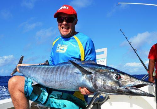 19kg wahoo - Rod Fishing Club - Rodrigues Island - Mauritius - Indian Ocean
