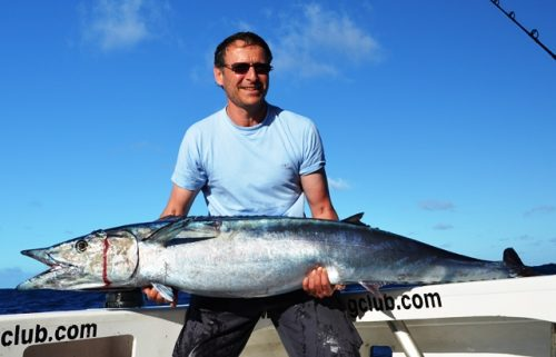 19kg wahoo on trolling - Rod Fishing Club - Rodrigues Island - Mauritius - Indian Ocean