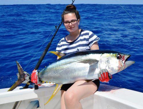 19kg yellowfin tuna - Rod Fishing Club - Rodrigues Island - Mauritius - Indian Ocean