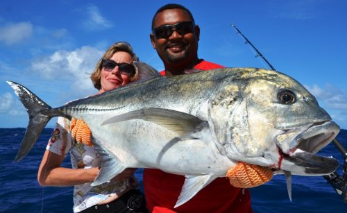 20kg GT released - Rod Fishing Club - Rodrigues Island - Mauritius - Indian Ocean