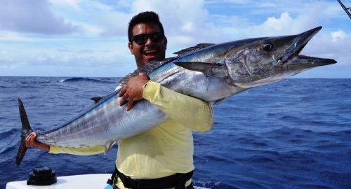 20kg wahoo - Rod Fishing Club - Rodrigues Island - Mauritius - Indian Ocean