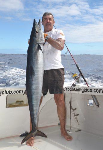 28kg wahoo on trolling by Marc - Rod Fishing Club - Rodrigues Island - Mauritius - Indian Ocean