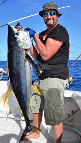 28kg yellowfin tuna - Rod Fishing Club - Rodrigues Island - Mauritius - Indian Ocean