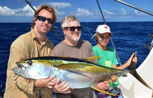 29kg yellowfin tuna on trolling - Rod Fishing Club - Rodrigues Island - Mauritius - Indian Ocean